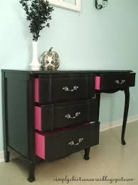 old furniture simply chic treasures: Hannahs Black French Provincial Desk