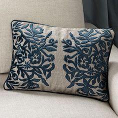 Shimmer Blue Velvet Pillow