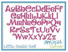 Little Snails Embroidery Design