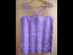 e691b64f22f5 Πλεκτη Καλοκαιρινη Μπλουζα με Βελονακι (μερος 2ο)  Crochet Wavy Stitch  Shirt Τutorial (part 2)
