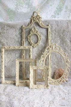 Shabby Chic Frames Vintage Frames Distressed by gardenofchic, $89.00