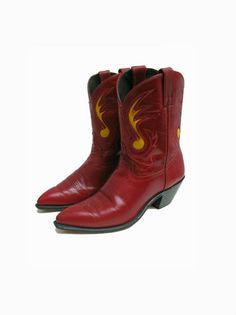 Rockabilly Cowboy Boots Code West  Womens Red by Atomicfireball