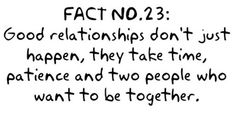 Relationship truth-is