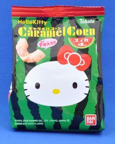 Hello Kitty caramel corn PD Japanese Snacks, Japanese Candy, Japanese Sweets, Japanese Cartoon Characters, Hello Kitty, Japanese Packaging, Cute Candy, Caramel Corn, Cute Desserts