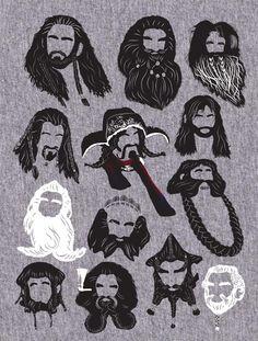 The Hobbit's 13 Dwarves