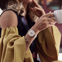 Behind every successful woman is a substantial amount of coffee and a timepiece to keep her on time! ☕️ (Photograph by @frassyaudrey)