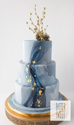 Wedding Cakes - kindly pick up this dazzling post, pin reference 7536887598 here. Wedding Cake Prices, Fondant Wedding Cakes, Wedding Cake Flavors, Fall Wedding Cakes, Wedding Cake Designs, Fondant Cakes, Cupcake Cakes, Blue Wedding Cupcakes, Wedding Blue