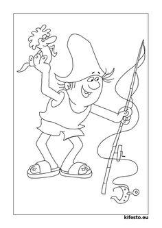 nagy hohoho horgász színező - Google keresés Pencil Drawings, Nursery, Clip Art, Fish, Halloween, Disney, Google, House, Home