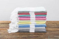 Turkish Towel Diamond Head/Hand TowelTurkish by CottonCloudco