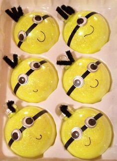 Minion Christmas Ornaments. My whole family loves Despicable ME. One for each person :)