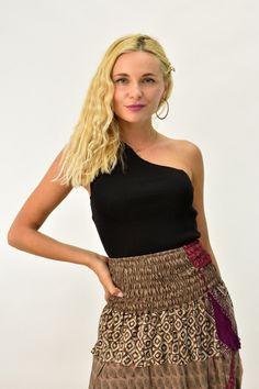Γυναικείο πλεκτό τοπ με έναν ώμο | POTRE One Shoulder, Blouse, Collection, Tops, Women, Fashion, Blouse Band, Moda, Women's