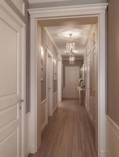 40 Astonishing Home Corridor Design For Your Home Inspiration 21 - grhaku Home Room Design, Home Design Plans, Home Interior Design, Living Room Designs, House Design, Corridor Design, Hallway Designs, Hallway Decorating, Elegant Homes
