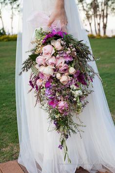 Spring wedding bouquet. Purple, lavender, mauve wedding.
