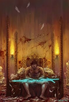 reflections by ~katya-h on deviantART ( Callandor wasn't a broadsword, other than that  though.)