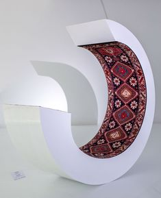 """Faig Ahmed, """"Wave,"""" a sculpture that combines a minimal modern form and texture with the form and text of a traditional woven rug. Yellow Carpet, Dark Carpet, Carpet Colors, Carpet Trends, Carpet Ideas, Painting Carpet, Carpet Cleaning Company, Professional Carpet Cleaning, Rug Texture"""