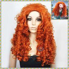 Merida Disney Princess Copper Red Halloween Wig Adult T7 | eBay