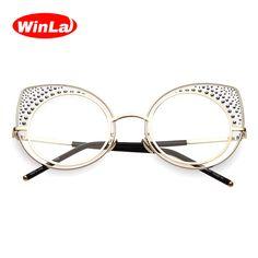 Winla Glasses Women Cat Eye Glasses Frame New Fashion Ladies Brand Designer  Transparent Classes Optical Clear Lens Female 354c16cb02