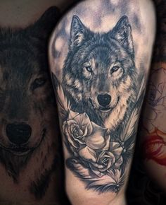 Wolf Tattoo Forearm, Small Wolf Tattoo, Wolf Tattoo Sleeve, Tribal Sleeve Tattoos, Lion Tattoo, Watercolor Tattoo Feather, Feather Tattoos, Skull Tattoos, Animal Tattoos