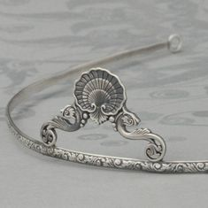 Atlantean Princess Mermaid Tiara--Solid Sterling Silver Beach Inspired Crown--Perfect for a Beach Wedding