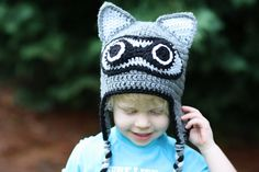Crochet Racoon Hat by TheAppleandTree on Etsy, $15.00