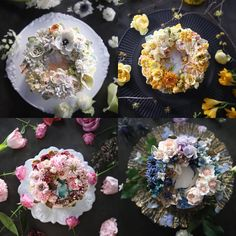 "351 Likes, 7 Comments - 청담 수케이크 (atelier soo) (@soocake_ully) on Instagram: ""ㅡ s o o c a k e. c o l o r  # 1 .  ㅡ  #flower #cake #flowercake #partycake #birthday #weddingcake…"""