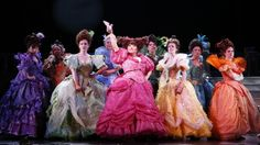 The Nance and Rodgers and Hammerstein's Cinderella costumes really caught my eyes because of the bright colors. Usually the background and less important characters will blend in with the set, but not these characters. This is really interesting because it shows that the typical rules of designing can be broken.