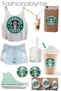 Starbucks CUTE OUTFIT.