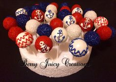Nautical theme cake pops!