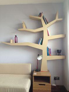 Homemade tree bookcase