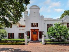 7 Bedroom House in Houghton Estate, A Houghton gem. A Sir Herbert Baker protege, John Albert Hoogterp, designed this elegant and original masterpiece. A magnificent, pristine gable Cape Dutch home in posh Houghton. An ideal family ho. Cape Dutch, Private Property, My House, Mansions, The Originals, Bedroom, House Styles, Gem, Number