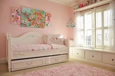 Project Nursery - Shared Shabby Chic Nursery Toddler Bed