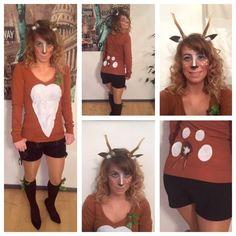Puder und Pinsel Straubing: Last Minute Kostümidee - Bambi  #bambi #kostüm #karneval #fasching #diy #verkleidung #köln #reh #hirsch #wald #tiere