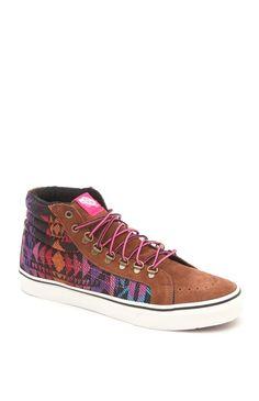 Womens Vans Shoes - Vans Sk-8 Hi Slim Tribal Sneakers