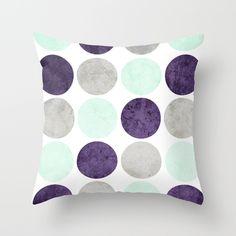 Buy Circles (Mint, Purple, Gray) by dani as a high quality Throw Pillow. Worldwide shipping available at Society6.com. Just one of millions of products available.