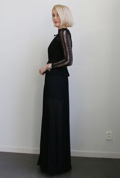 Josefin Dahlberg black dress