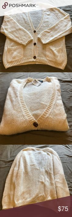 American Apparel - Mohair Cardigan Mohair Cardigan // Color: Natural (white/cream) // Size: OS // Brand new with tag and never worn! Perfect condition and no longer available anywhere! Loose/oversized fit. American Apparel Sweaters Cardigans