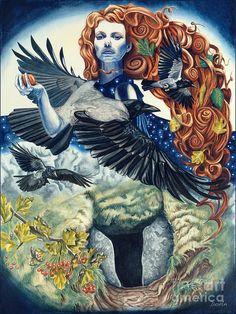 "Morrigan ""Phantom Queen"" Celtic Goddess of Battle, Death & part of a triple goddess with Macha & Babd/Nemain."