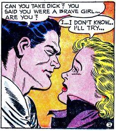 She's brave. She'll try. (Girl's Love Stories, 1952)