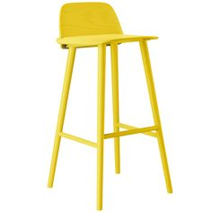 Buy Muuto Nerd Bar Stool online with Houseology Price Promise. Full Muuto collection with UK & International shipping. High Bar Stools, High Stool, Counter Bar Stools, Nerd, Muuto, Danish Design Store, Chaise Bar, Wood Detail, Steel Furniture