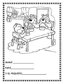 "COSILLAS DE INFANTIL: Cuento: ""Ricitos de Oro y los tres osos"" Book Activities, Coloring Pages, Peanuts Comics, Album, School, Books, Social, Short Stories, Kids Education"
