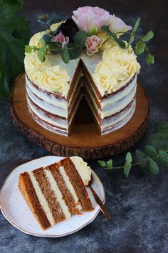 Eggless Cardamom Carrot Cake with Orange Blossom Frosting