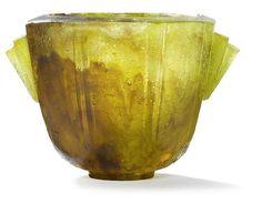 Francois-Emile Décorchemont (1880-1971), Pâte de verre, Vase.