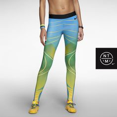 Nike Pro Brasil Print Women's Tights. Nike Store. I want these!