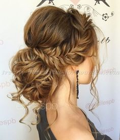 braided+hairstyles+-+messy+chignon+with+braid