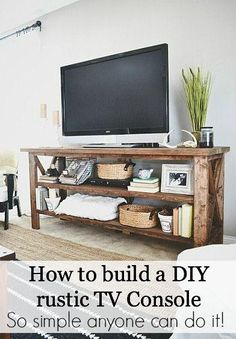 Rustic DIY TV Console