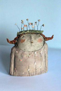 Il a fleuri chaque printemps # fleuri # printemps # tout le monde - Il a fleuri chaque printemps # fleuri # chacun - Slab Pottery, Ceramic Pottery, Ceramic Art, Ceramic Figures, Clay Figures, Paper Mache Clay, Clay Art, Pottery Sculpture, Sculpture Clay
