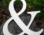 """14"""" Wooden Ampersand Sign Photography-DIY-Wedding Decor-Engagement-Wooden Alphabet Letters- Photography prop- Birthday- Decor. $13.50, via Etsy."""