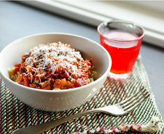Quick Weeknight Tomato Sauce with Pasta    Serves 4-6    2 links chicken sausage, diced (or other leftover meat)  1 large onion, diced  1 12-oz jar roasted peppers, drained and diced  3-4 cloves garlic, minced  2 teaspoons smoked paprika  1 whole star anise  1 bay leaf  1 28-oz can diced tomatoes  1 pound pasta  a splash of balsamic vinegar