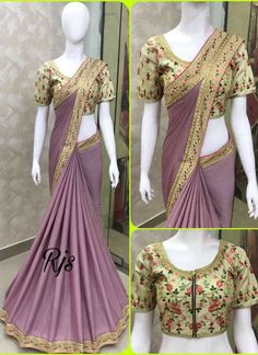 7f16765d849c84 Fabric Moss Chiffon Blouse Banglori silk Emorodairy Work Rate 1099 - Ready  to ship Tamil