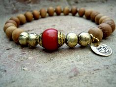 Meditation / Wrist Mala / Yoga Bracelet / Aromatic Sandalwood / Mala Bracelet / Mala Beads / Red Coral / Yoga / Yoga Jewelry /Zen Bracelet by Syrena56 on Etsy https://www.etsy.com/listing/130908732/meditation-wrist-mala-yoga-bracelet
